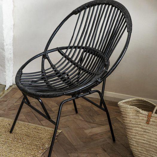 Cane Chair – Black