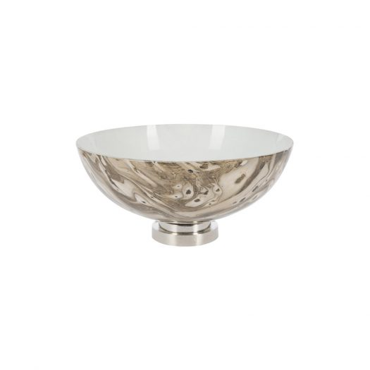 Antique Look Marbled Glass Bowl