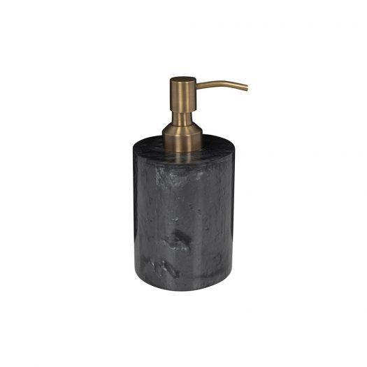 Marbled Resin Soap Dispenser - Black