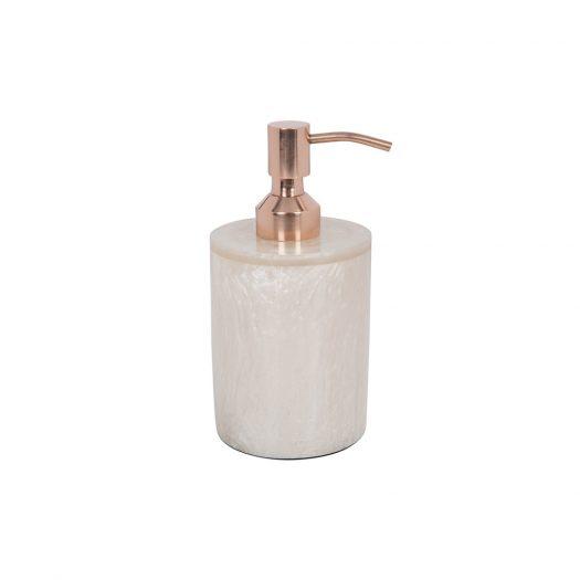 Marbled Resin Soap Dispenser - Ivory