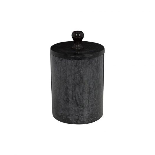 Marbled Resin Soap Dish - Black