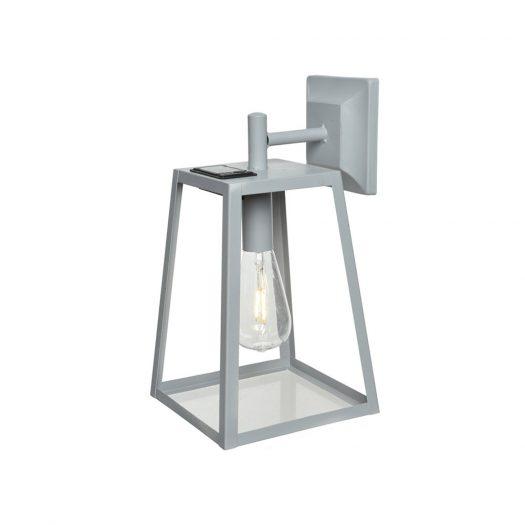 Outdoor LED Solar Cube Light - Grey