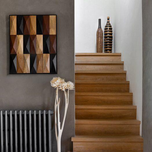 Wood Cutout Vase