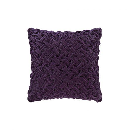 Abstract Textured Cushion - 50x50cm - Purple
