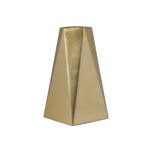 Gold Geo Candlestick - Large