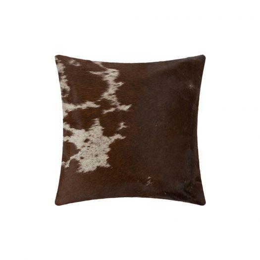 Small Speckling Cowhide Cushion - 45x45cm - Tan/White