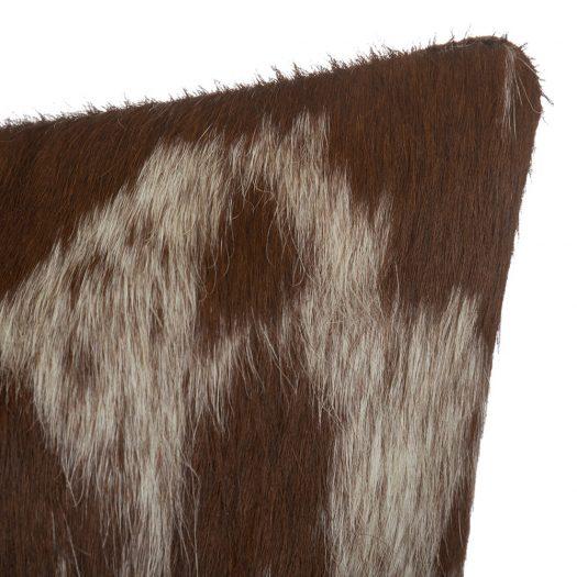 Small Speckling Cowhide Cushion – 45x45cm – Tan/White