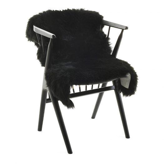 New Zealand Sheepskin Rug – 90x60cm – Black
