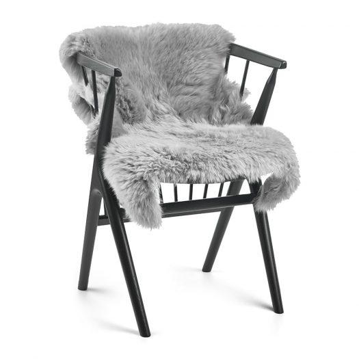 New Zealand Sheepskin Rug – 90x60cm – Light Grey