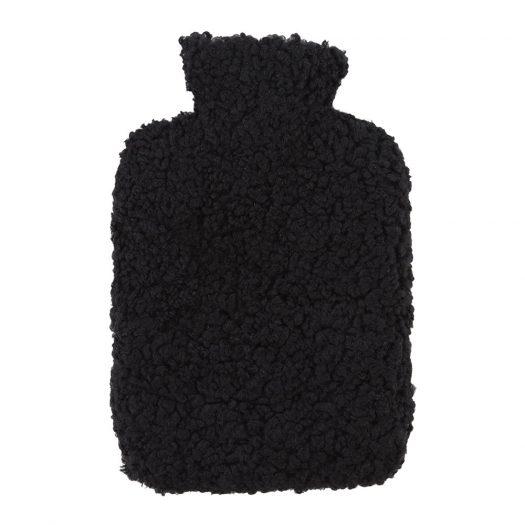 Sheepskin Hot Water Bottle - Black