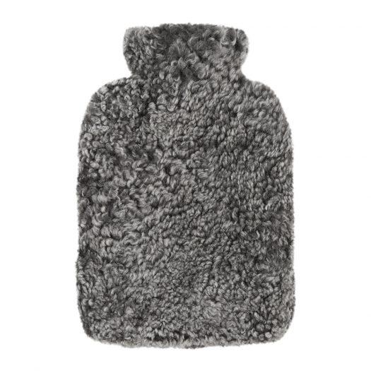 Sheepskin Hot Water Bottle - Graphite