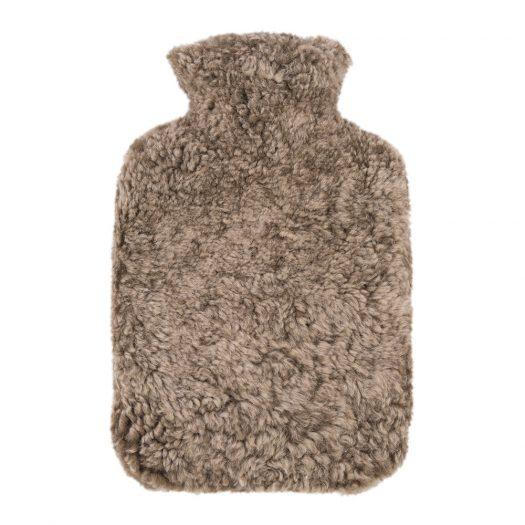 Sheepskin Hot Water Bottle - Taupe