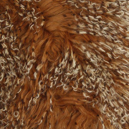 Tibetan Sheepskin Cushion – 40x40cm – Sunset