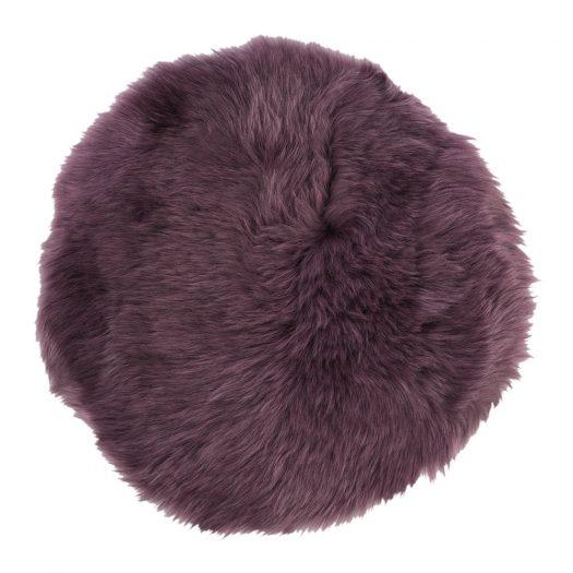 New Zealand Sheepskin Seat Pad - Long Wool - Aubergine