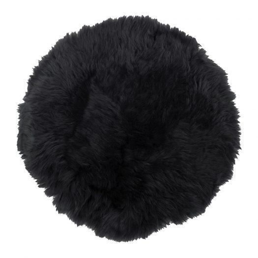 New Zealand Sheepskin Seat Pad - Long Wool - Black