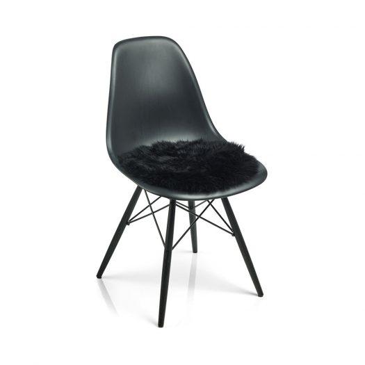 New Zealand Sheepskin Seat Pad – Long Wool – Black