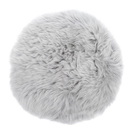 New Zealand Sheepskin Seat Pad - Long Wool - Light Grey