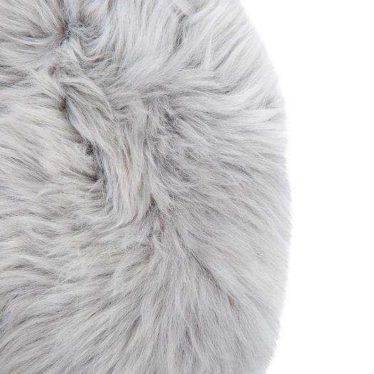 New Zealand Sheepskin Seat Pad – Long Wool – Light Grey