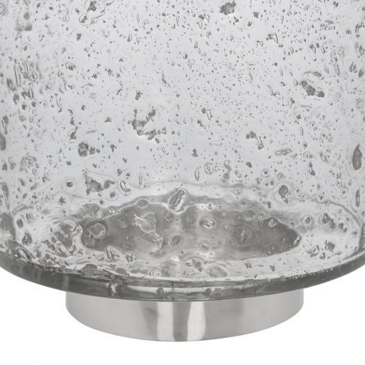 Grey Ombre Speckled Glass Hurricane – Small
