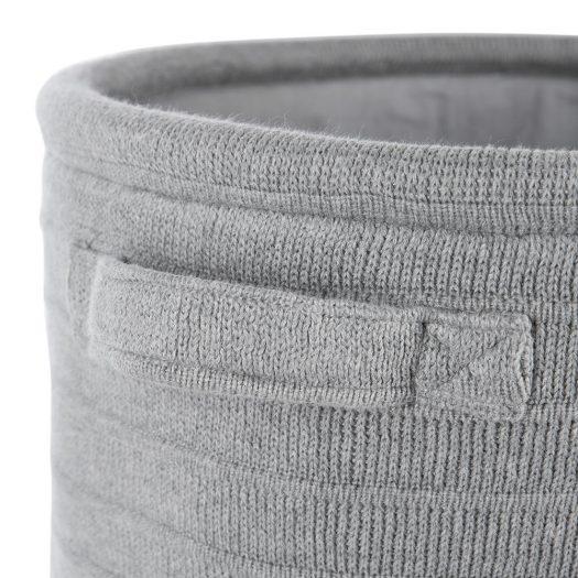 Knitted Laundry/Storage Basket – Light Grey