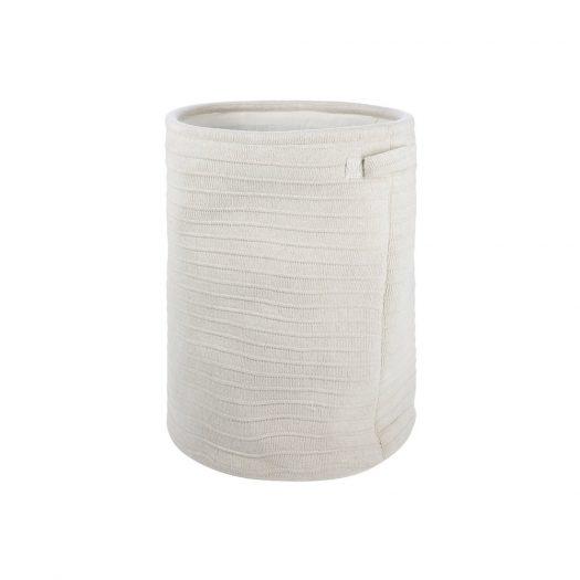 Knitted Laundry/Storage Basket - Oatmeal