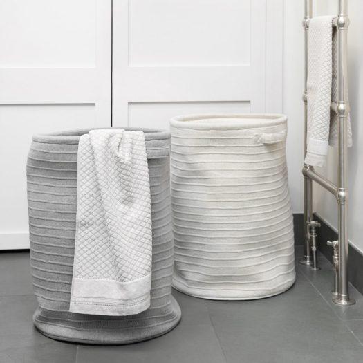 Knitted Laundry/Storage Basket – Oatmeal