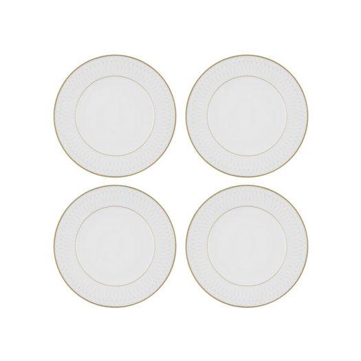 Prism Porcelain Dinner Plates - Set of 4 - Gold