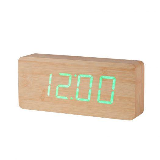 Slab Walnut Click Clock