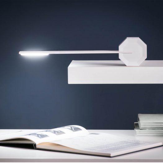 Octagon One Desk Lamp White