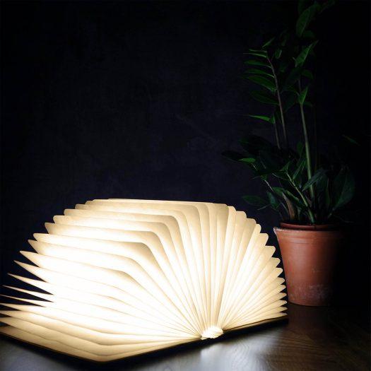 Smart Accordion Lamp LED Smart Booklight Large Walnut