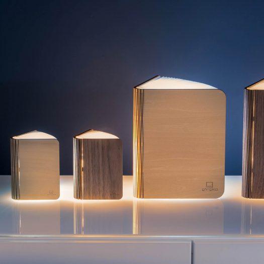 Smart Accordion Lamp LED Smart Booklight Large Maple