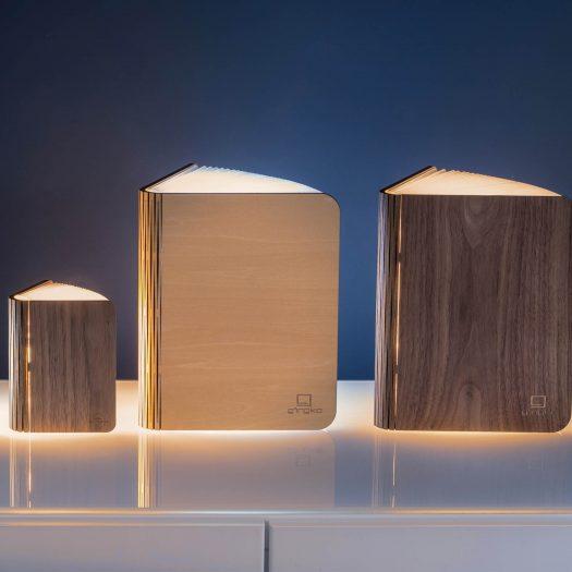 Smart Accordion Lamp LED Smart Booklight Mini Walnut