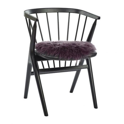 New Zealand Sheepskin Seat Pad – Long Wool – Aubergine