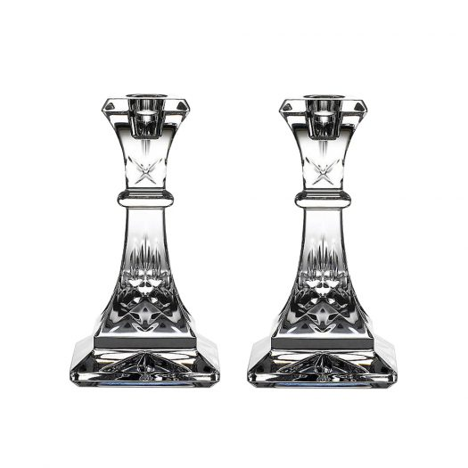 Waterford Lismore Crystal Candlesticks Set of Two