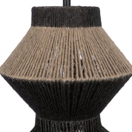 Metal & Rope Table Lamp