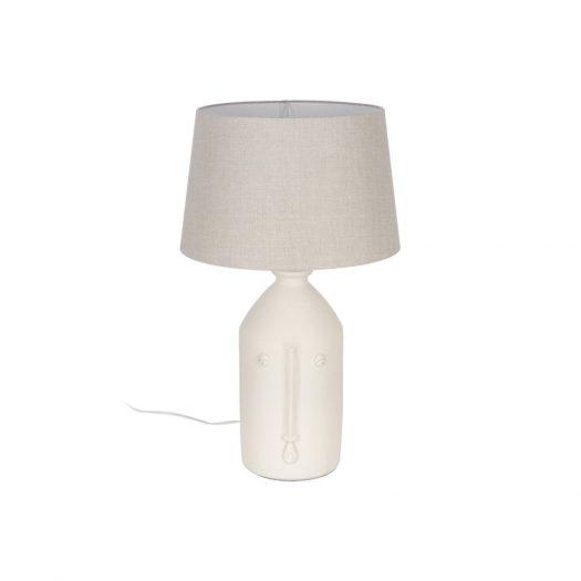 Terracotta Face Table Lamp