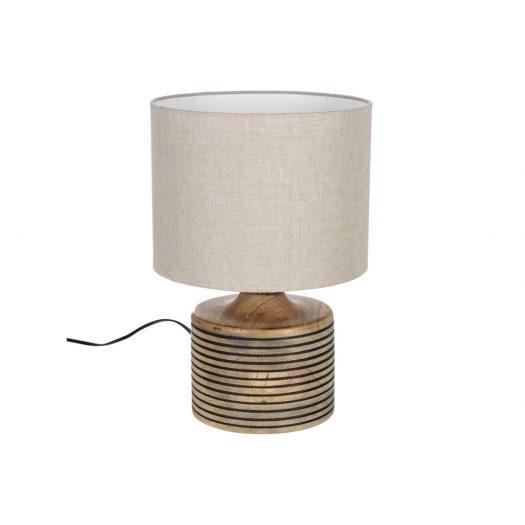 Wooden Stripe Table Lamp