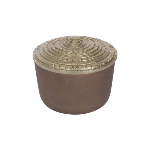 Antique Bronze Trinket Pot - Small