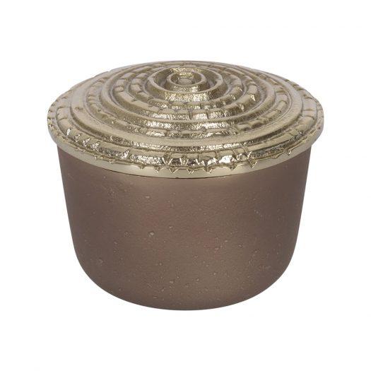 Antique Bronze Trinket Pot - Large