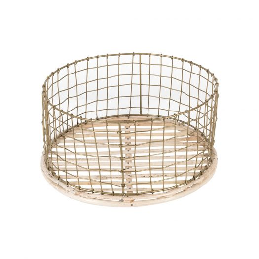 Shallow Gold Wire Basket