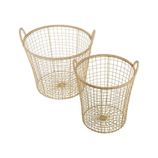 Jute Storage Basket - Set of 2