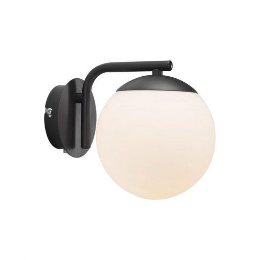 Grant Wall Light - Opal White/Black