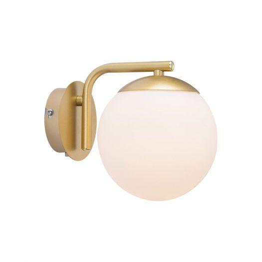 Grant Wall Light - Opal White/Brass