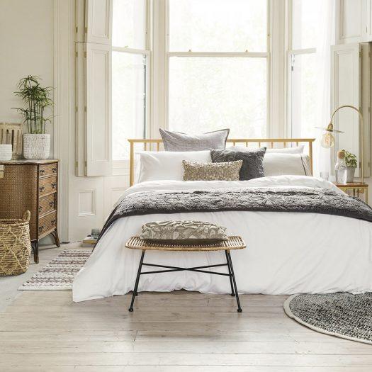 Egyptian Cotton Standard Pillowcase Pair – White