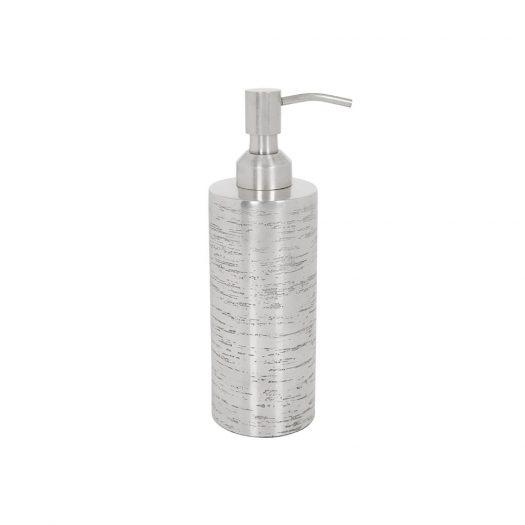 Antique Silver Textured Soap Dispenser