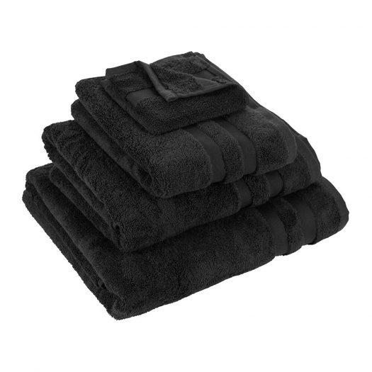 Pima Towel - Black - Face Cloths - Set of 3
