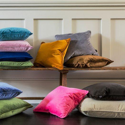 Velvet Cushion – Grey – 45x45cm