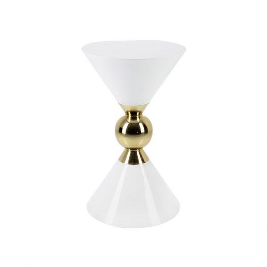 Hourglass Stool - White