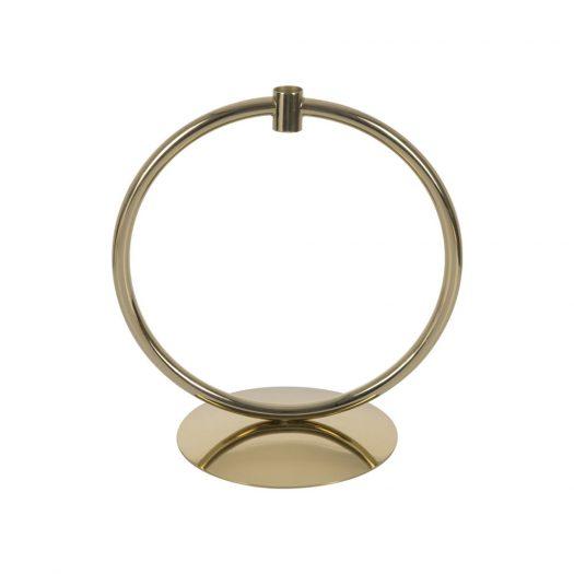 Hoop Candlestick - Gold
