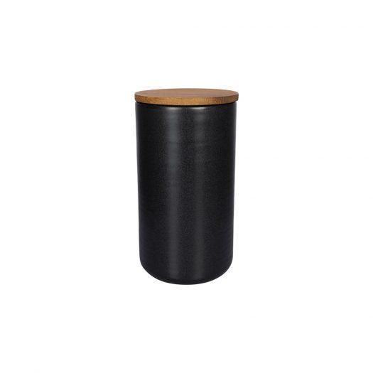Matt Black Storage Pot - Small